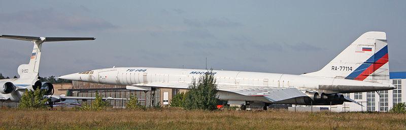Tupolev TU 144 LL da NASA. Nos anos 90 a NASA trabalhou para desenvolver um projeto de transporte supersônico de passageiros.