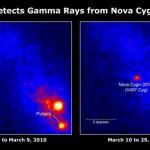 Cientistas da colaboração FERMI-LAT descobrem as inéditas explosões chamadas de NOVAS de raios-gama