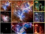 Composição com imagens individuais de vários observatórios fornecem a impressionante uma nova visão da Nebulosa da Águia