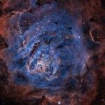 M8: a Nebulosa da Lagoa capturada pelos filtros de hidrogênio, enxofre e oxigênio por John Nemcik