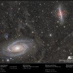 M81 versus M82: a guerra das galáxias retratada por André van der Hoeven, Neil Fleming e Michael Van Doorn