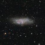 ESO revela detalhes de Wolf-Lundmark-Melotte – uma galáxia solitária incomum nos confins do Grupo Local