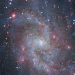 M33: as nuvens de hidrogênio da galáxia do Triângulo por Danilo Pivato e Gimmi Ratto