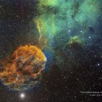 Sharpless 249 e a elusiva Nebulosa da Medusa por Eric Coles