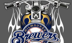 Milwaukee Brewers Harley-Davidson Crossover Graphic