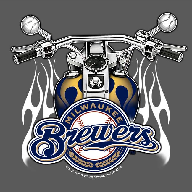 Milwaukee Brewers Harley-Davidson Crossover Graphic