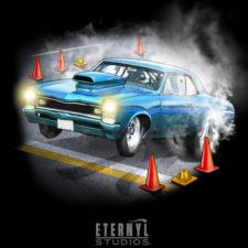 Eternyl-Studios-Muscle-Car Burn-Out