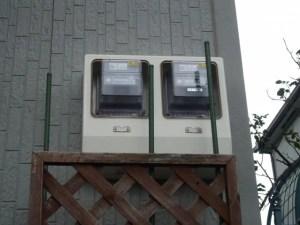 京セラ太陽光 施工事例 城陽市 電気メーター
