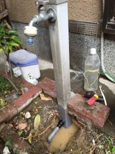 城陽市 水漏れ修理 水栓柱