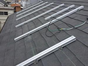 京都府城陽市 太陽光発電設置工事 鋼材