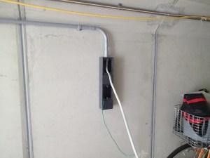 電気工事パイプで配線