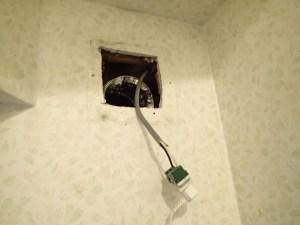 換気扇 電気工事