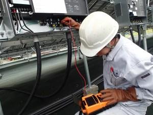 IVカーブ測定  太陽光発電
