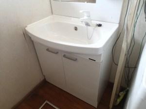城陽市タカラスタンダード 洗面化粧台 ウィット