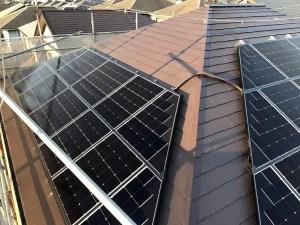 シャープの太陽光発電設置後