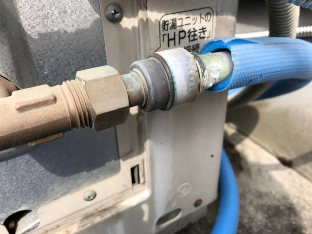 ヒートポンプの配管が割れる