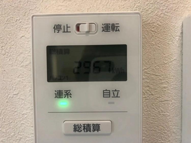 積算発電量
