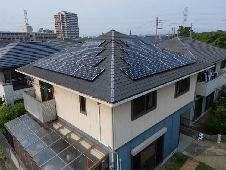 上空からの太陽光発電