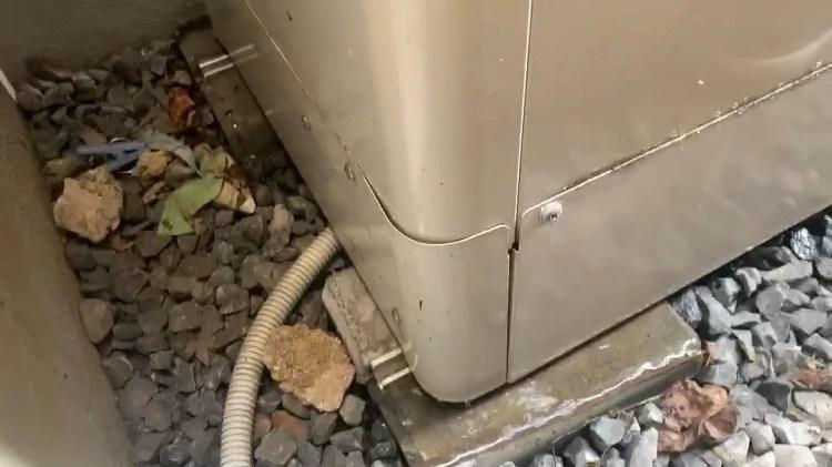 本体から水漏れ