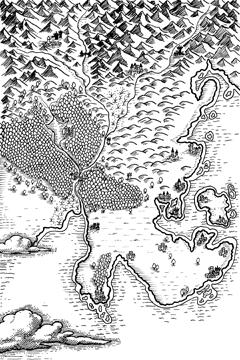 illustration, fantasy map