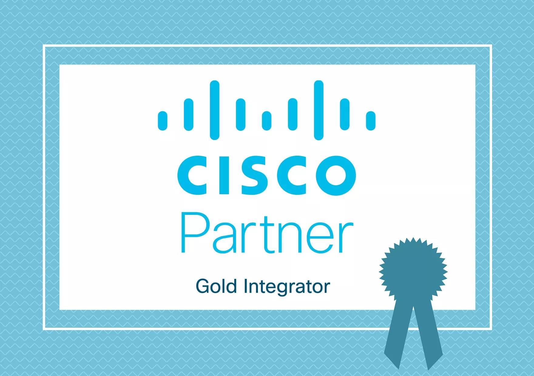 Das Cisco Partnerlogo Gold Integrator