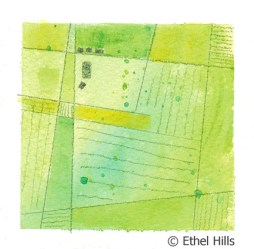 Ethel Hills - Mini Farm Painting