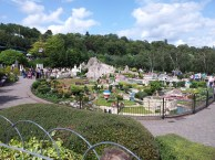 Looking out over the model village