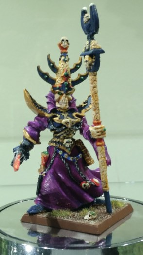 The old version of Nagash from the mid 90s, whose face drew a lot of mirth when it came out