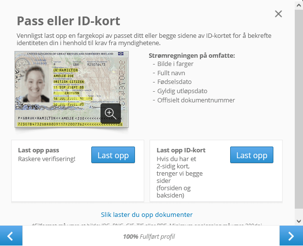 ID Verifisering på eToro
