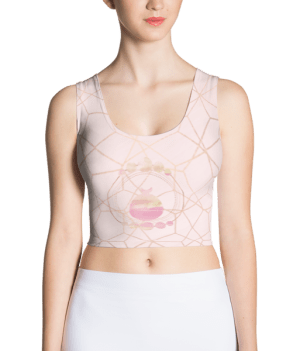 etheric life pink full moon collection crop top front