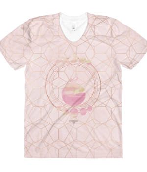 etheric life pink full moon collection all over print tshirt