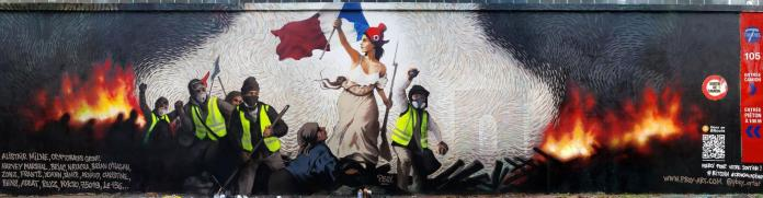 Street Artist Hides $1,000 in BTC Inside a Mural Depicting Paris Protests