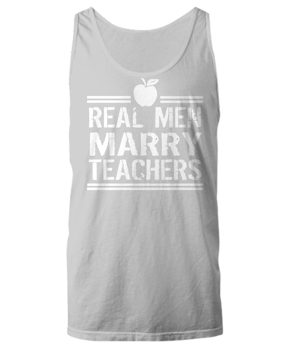 Real men marry teachers apple Tank Top