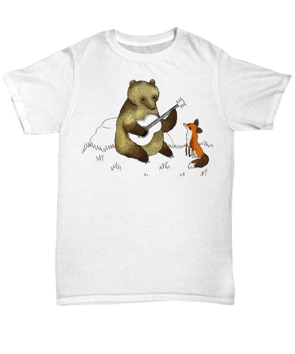 Bear with guitar and fox Shirt