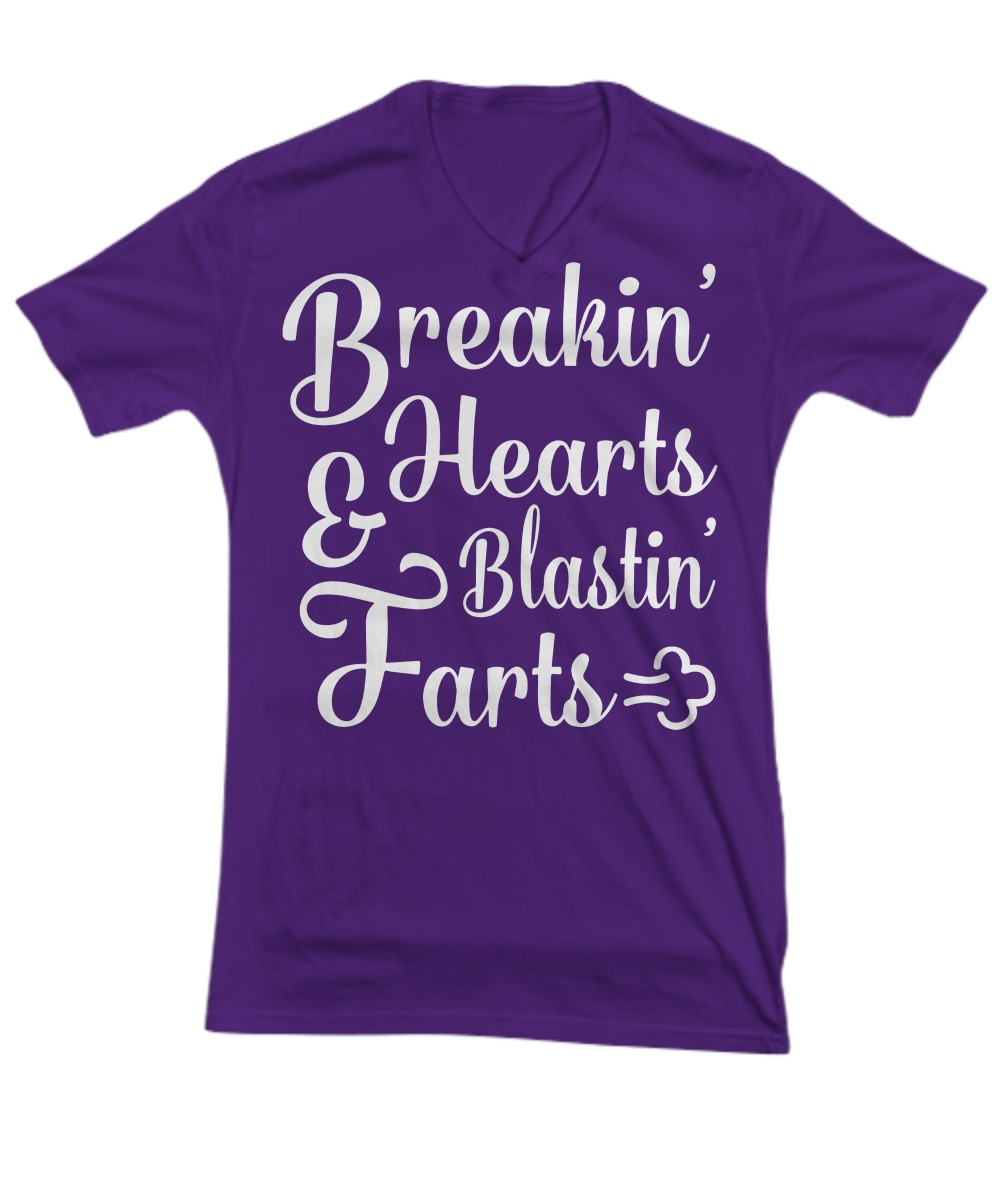 Breakin hearts blastin farts V-neck
