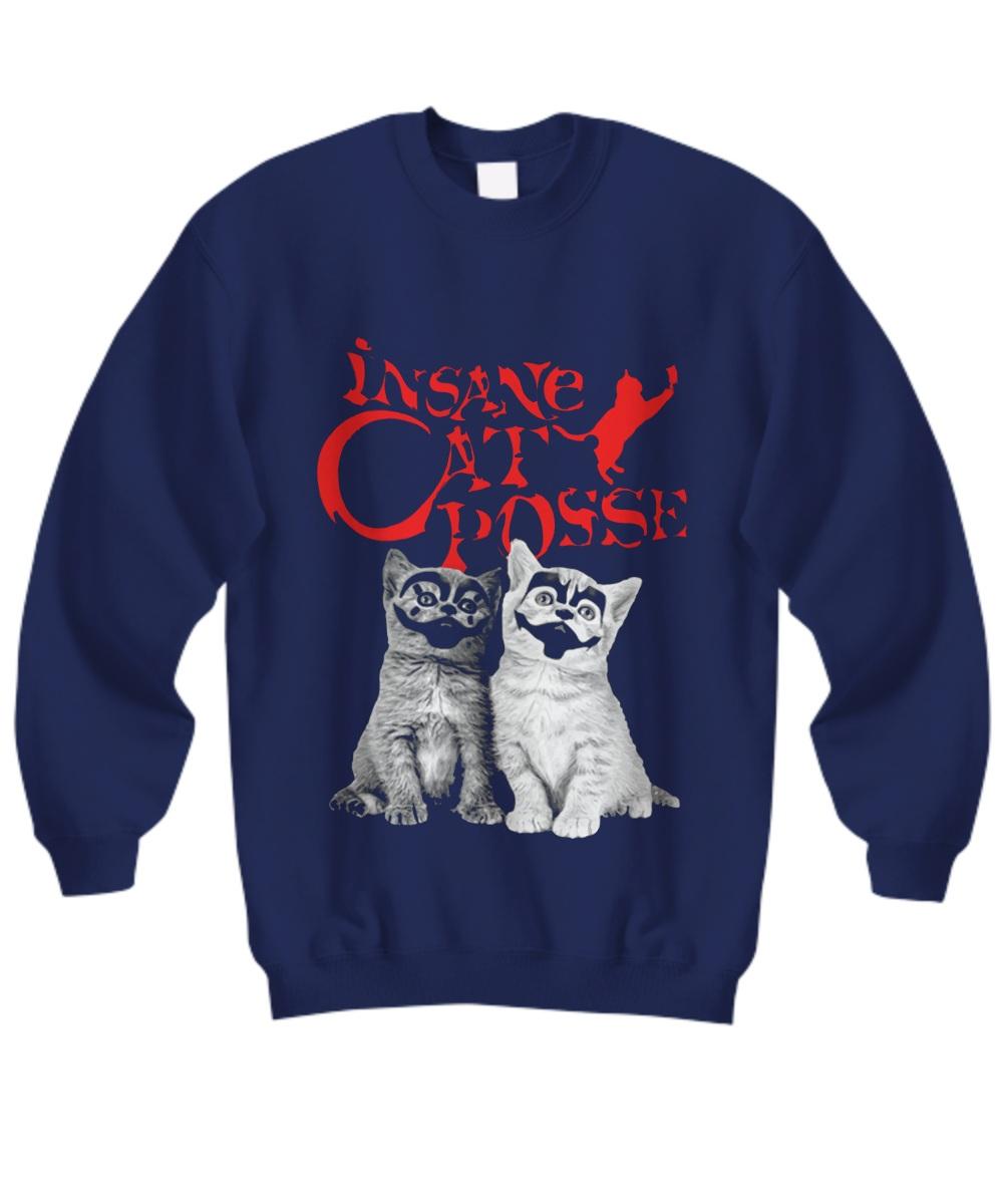 Halloween insane cat posse Sweatshirt