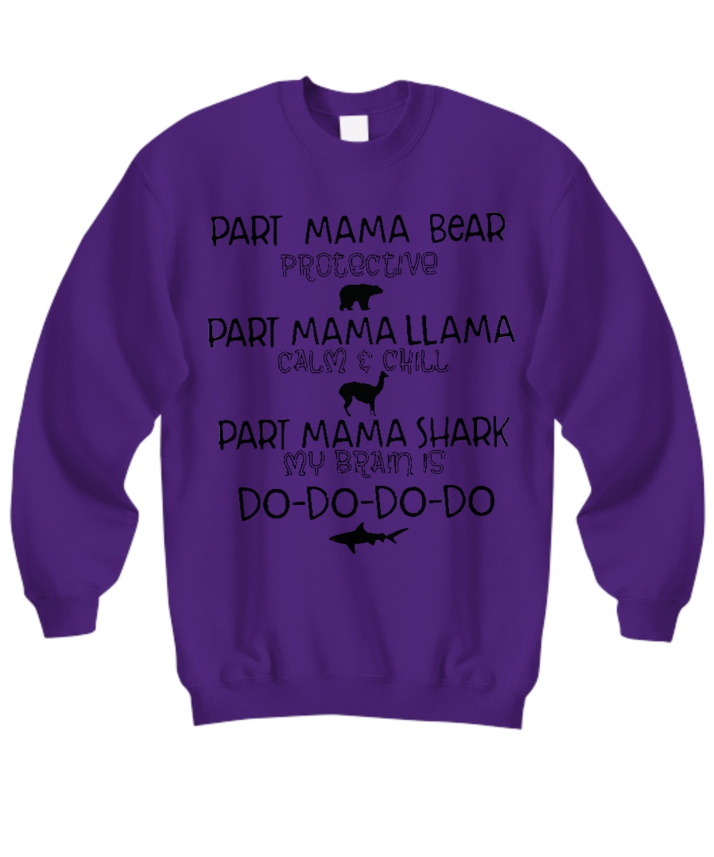 0532c40e Part mama bear llama shark Shirt, tank top, hoodie, sweatshirt