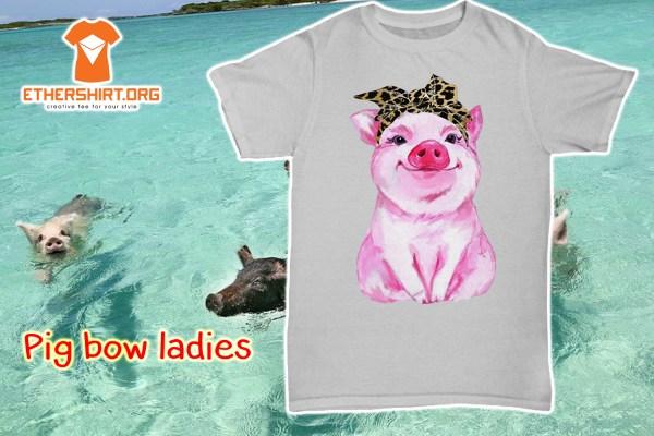 Pig bow ladies shirt