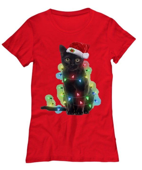 Cat light Christmas Shirt
