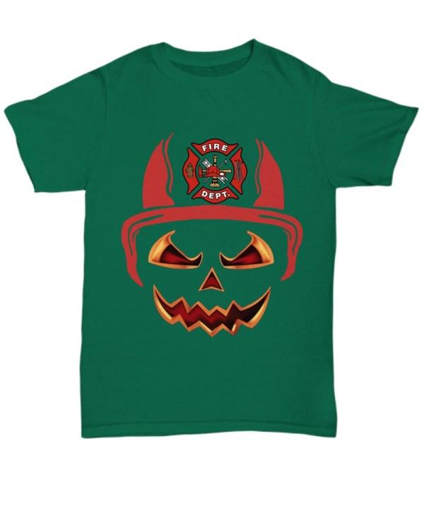 Fire department red horn pumpkin halloween Shirt
