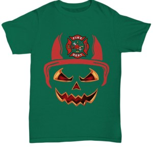 Fire department red horn pumpkin halloween Shirt