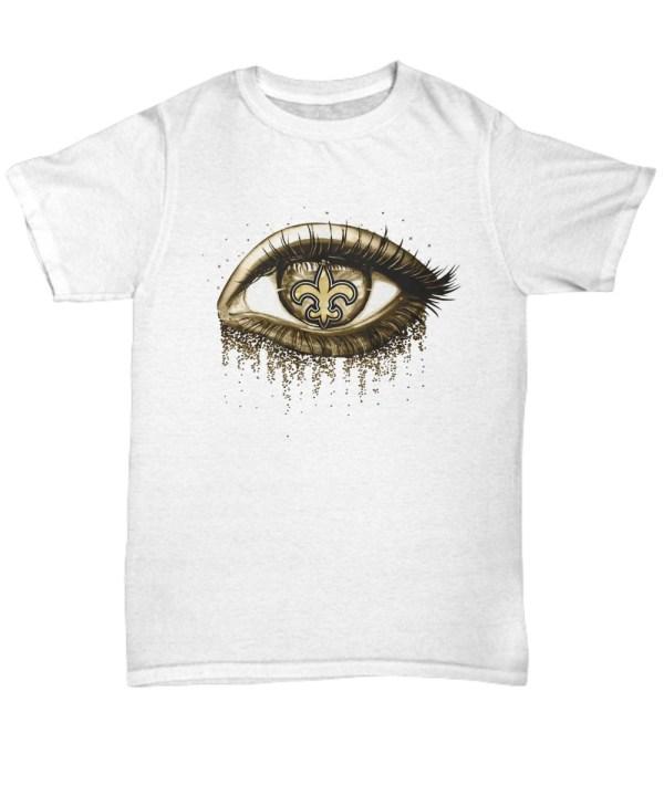 New orleans saints gold eyes glitter Shirt