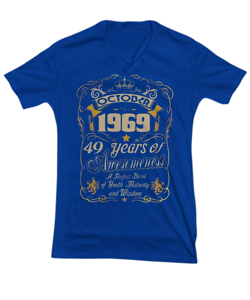 October 1969 49 years of awesomeness V- Neck