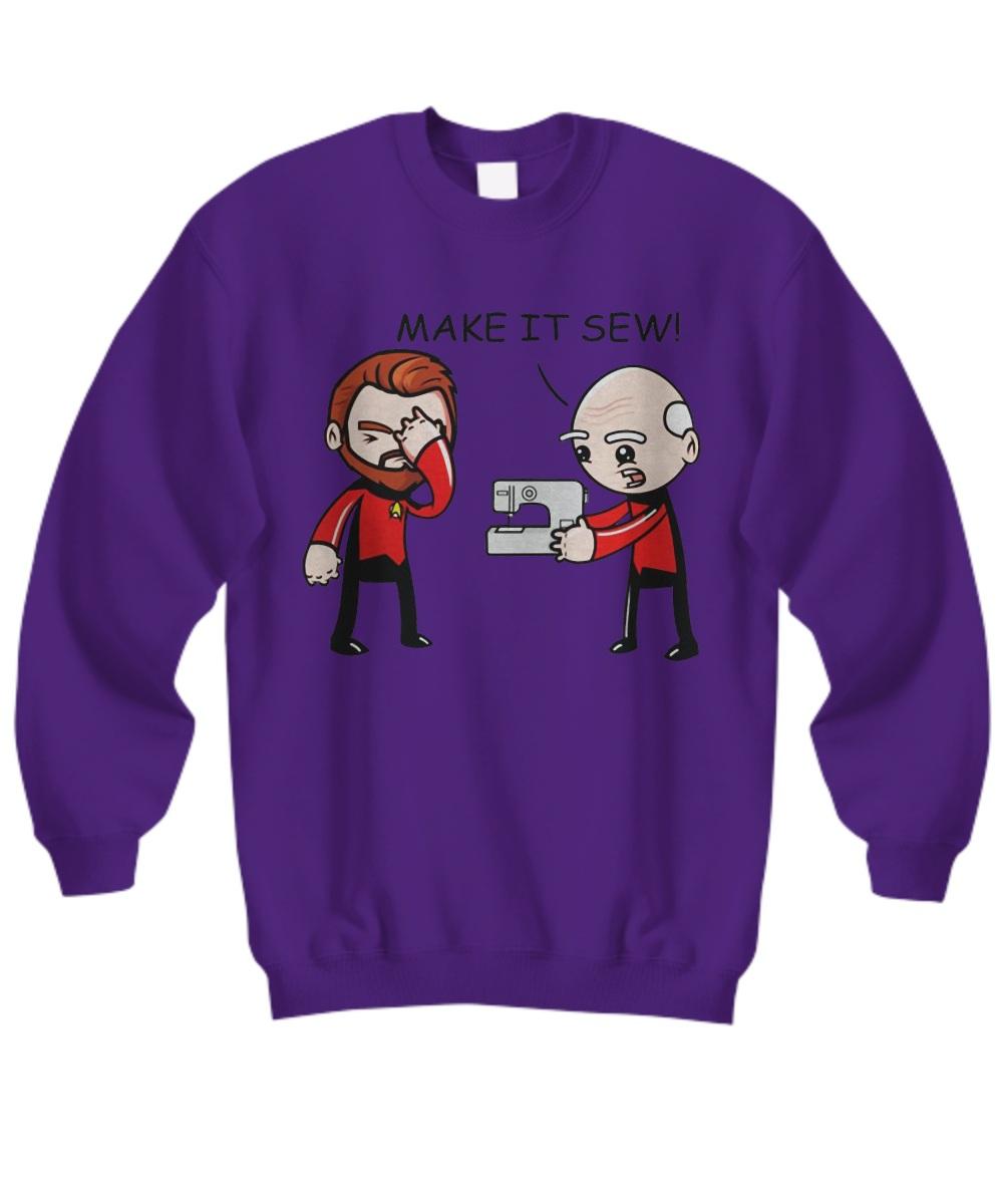 Star trek make it sew Sweatshirt
