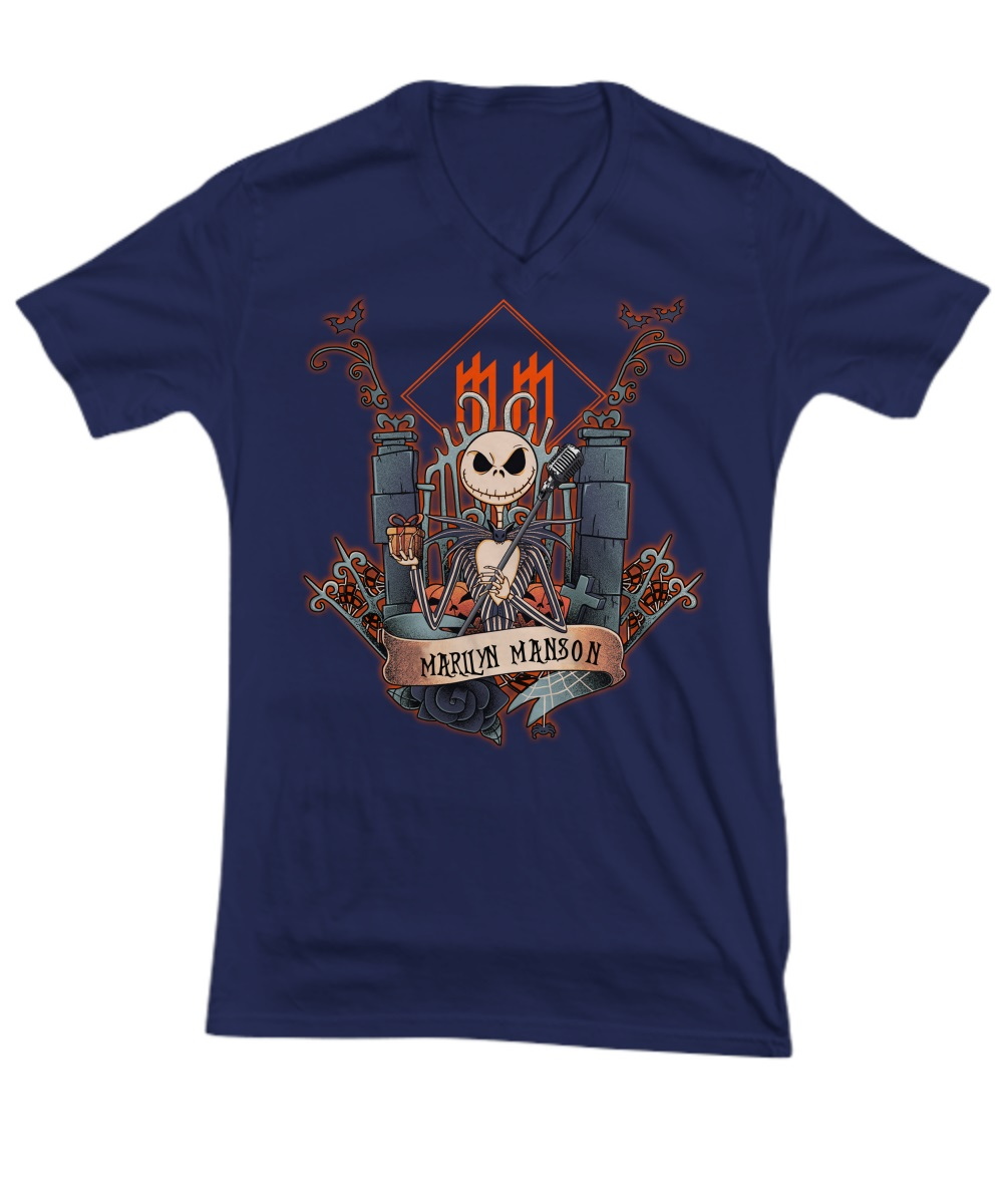 Jack skellington marilyn manson v-neck