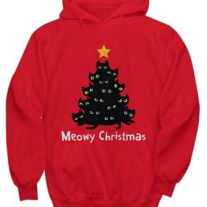 Meowy Christmas tree Hoodie