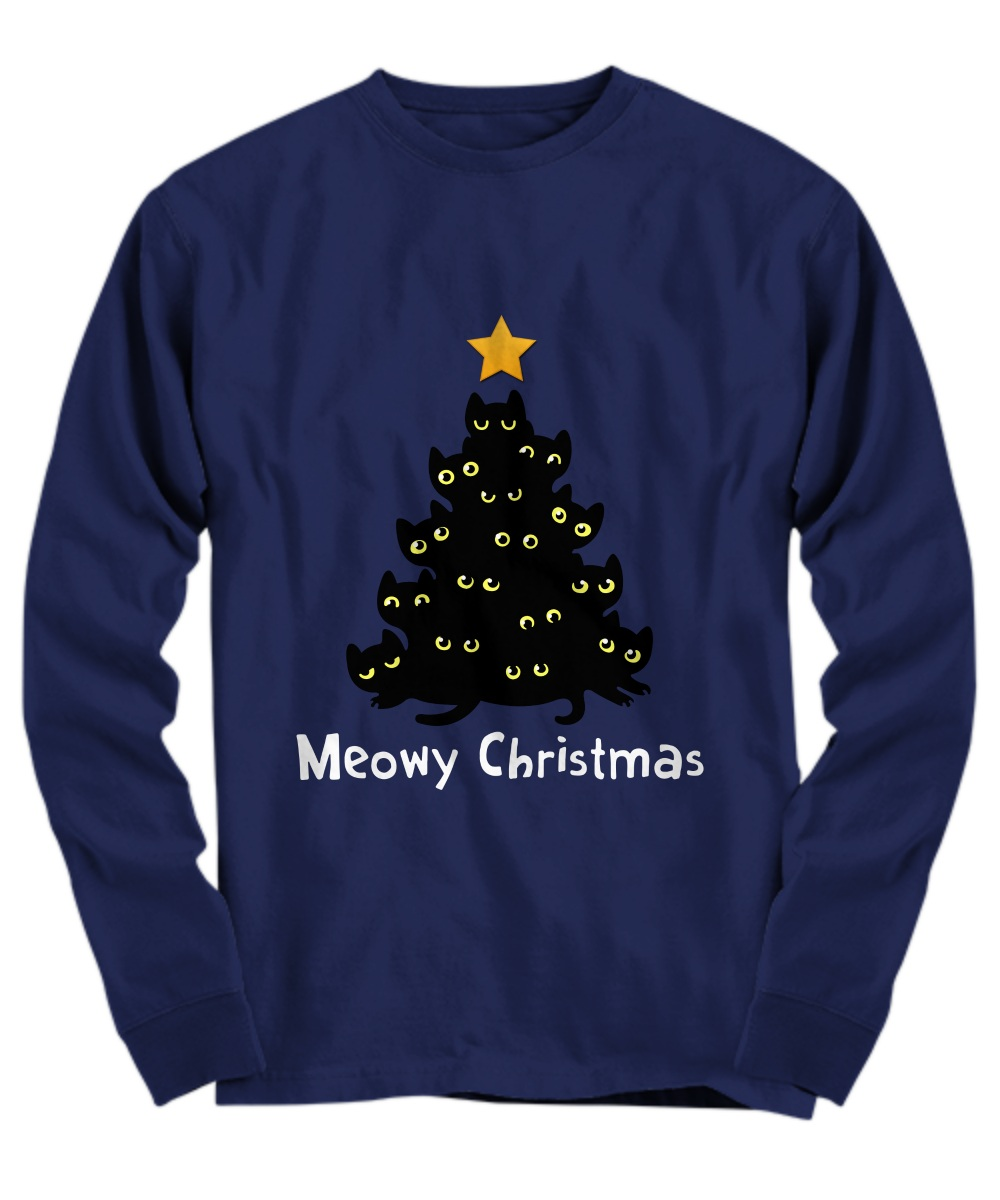 Meowy Christmas tree Long sleeve