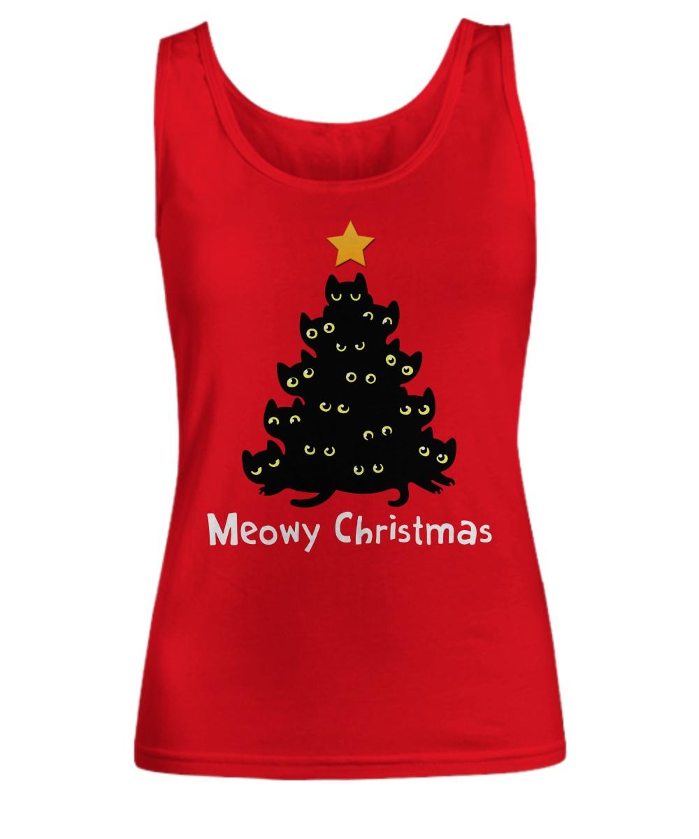Meowy Christmas tree Tank top