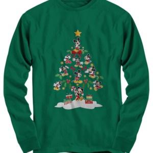 Mickey christmas tree long Sleeve