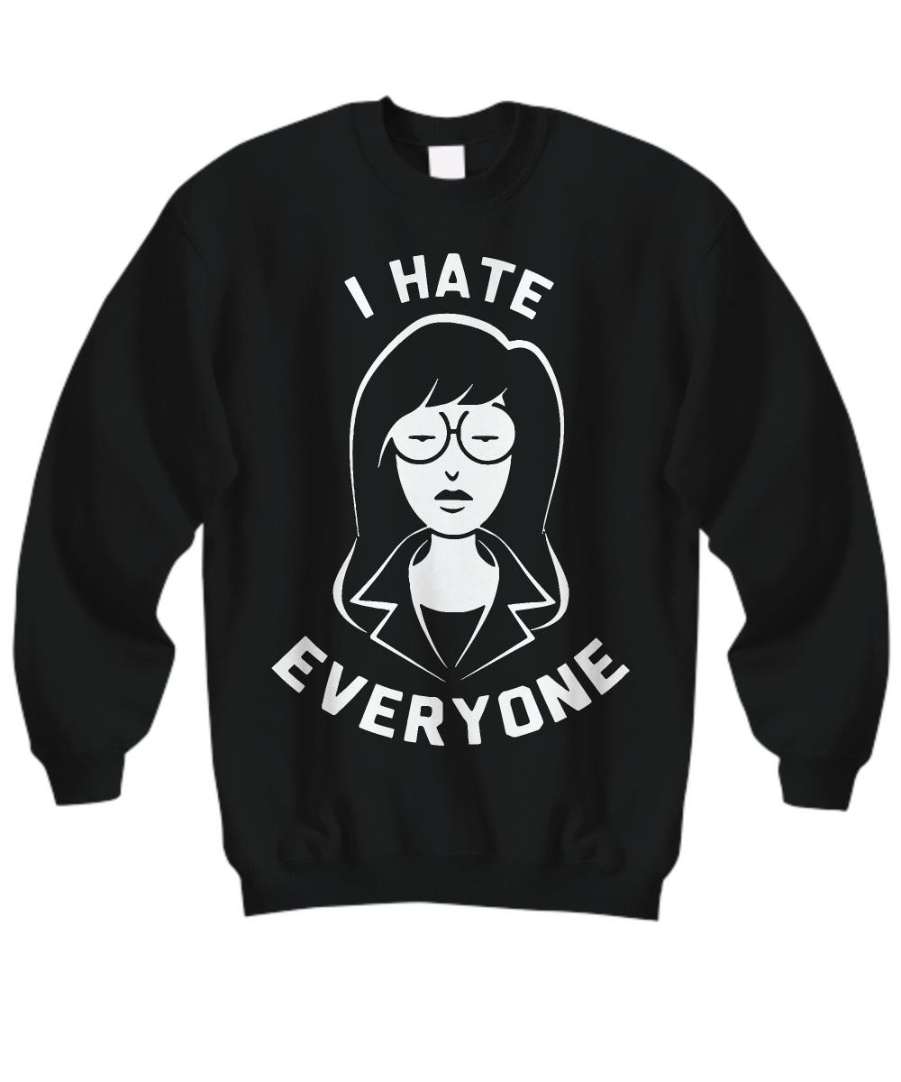 Nickelodeon Men's Daria I Hate Everyone Sweatshirt